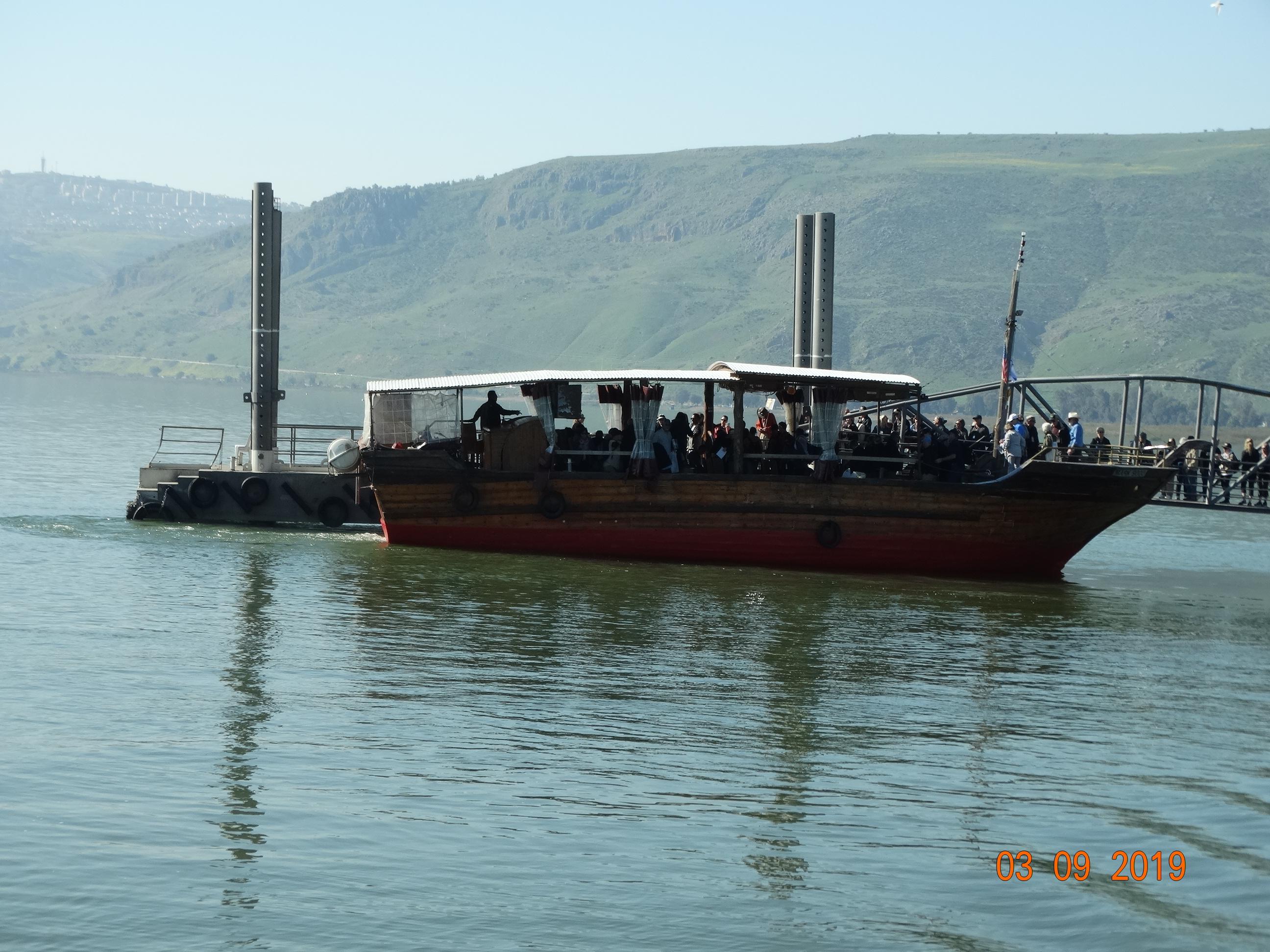 Modern boat on the Sea of Galilee (Tiberius)