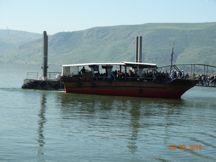 Modern boat on the Sea of Galilee (Tiberius)